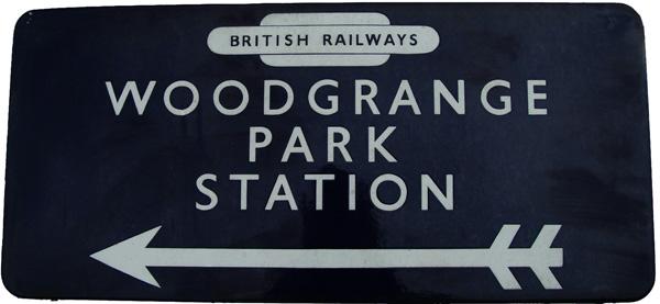 British Railways Eastern Region Enamel Direction