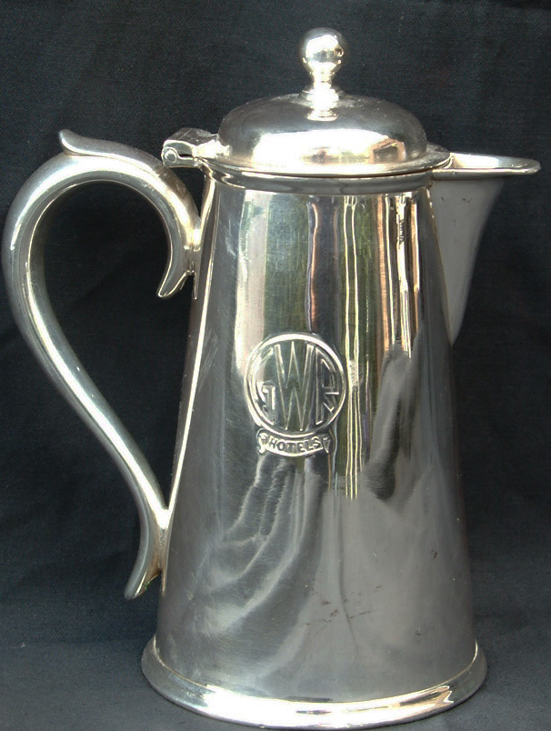 GWR Silverplate Coffee Pot Measuring 8 In Height