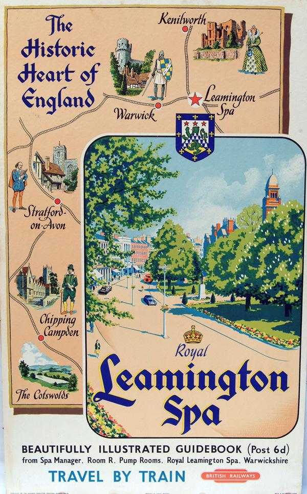 Poster, British Railways D/R  'Royal Leamington