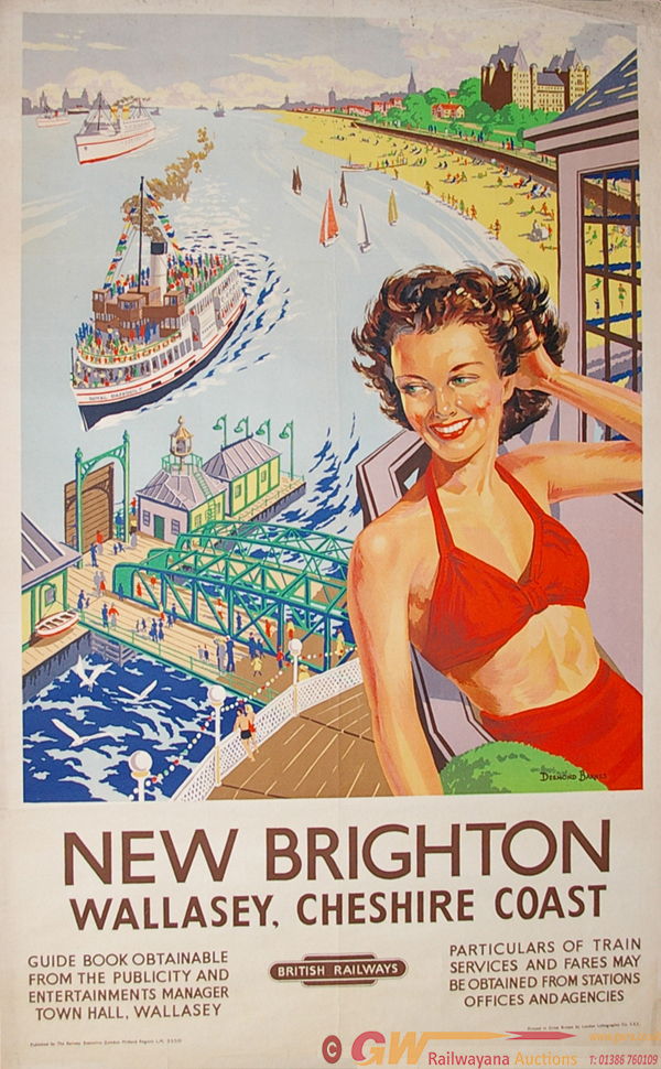 BR (LMR) D/R Poster: NEW BRIGHTON: Wallasey