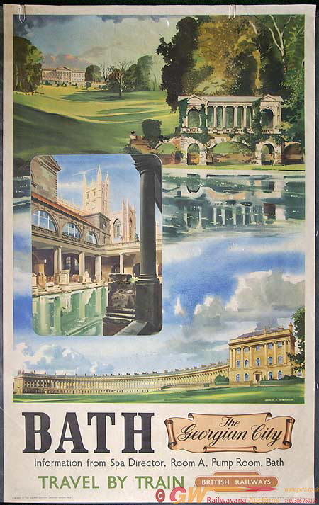 Poster, BR (WR) D/R  'Bath, The Georgian City'.