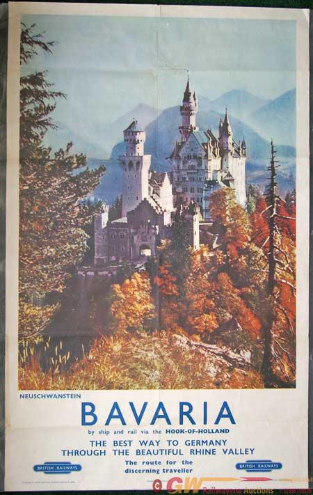 Poster, BR(ER) D/R 'Bavaria'.  Photographic Type