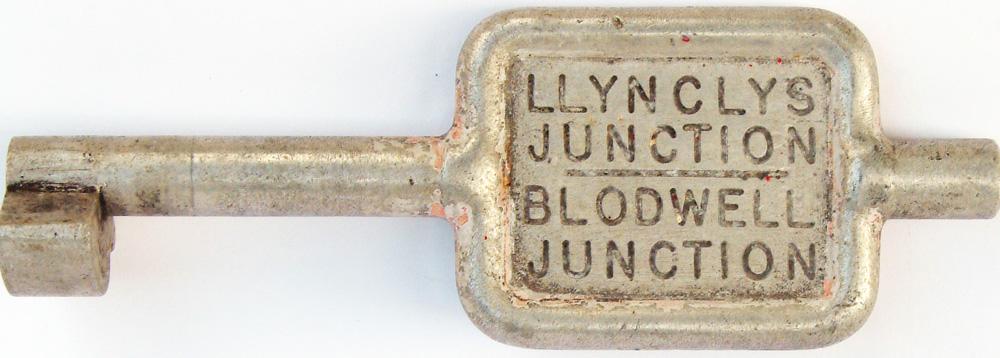 Alloy Key Token LLYNCLYS JUNCTION - BLODWELL