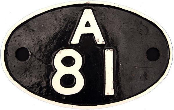 Shedplate a81, Old Oak Common, Alloy Construction.