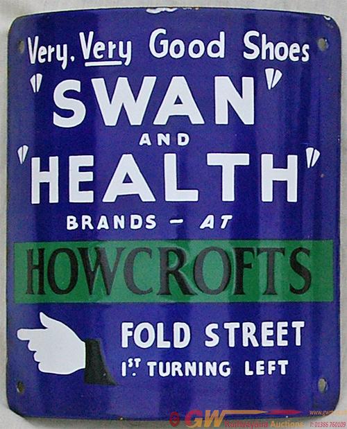 Enamel Advertising Sign For Swan & Health  Brand