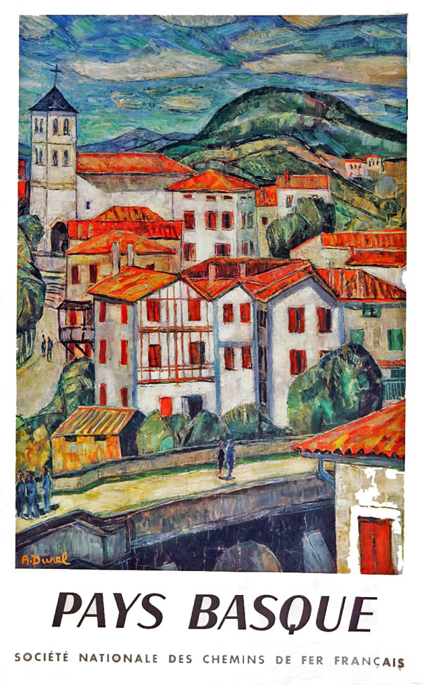 French Railways Double Royal Poster, PAYS BASQUE,