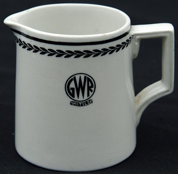 GWR 'Black Leaf' China Milk Jug Bearing GWR