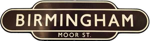Totem, BR(W) BIRMINGHAM MOOR STREET, F/F. Ex GWR