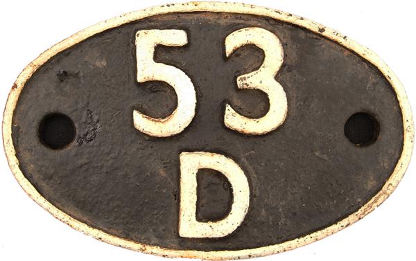 Shedplate 53d, Bridlington Until June 1958. Ex