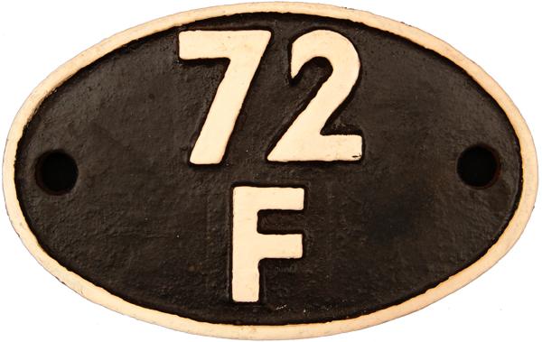 Shedplate 72f, Wadebridge Until September 1963.