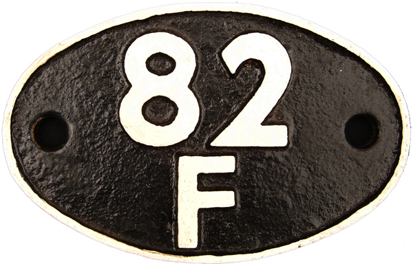 Shedplate 82f, Weymouth Until February 1958 And