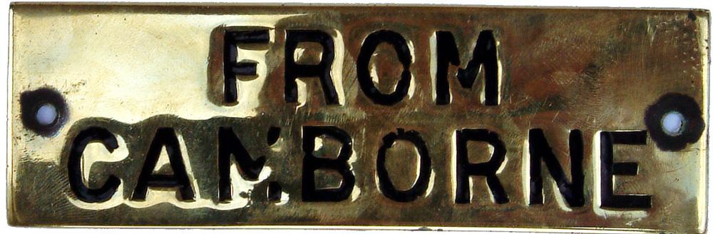 GWR Brass Hand Engraved Shelf Plate 4