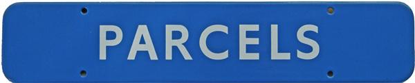 Doorplate, BR(Sc) PARCELS, Enamel F/F Measuring 18