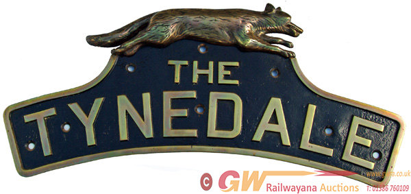 Nameplate THE TYNEDALE With Original, Right