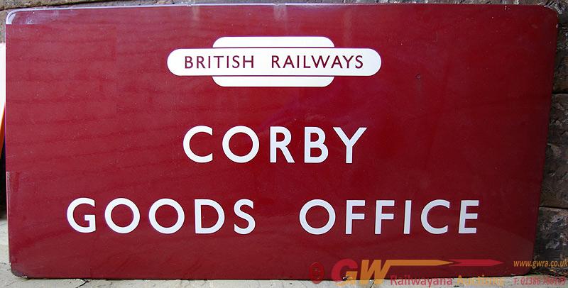 BR(M) Enamel Sign, F/F With British Railways Totem