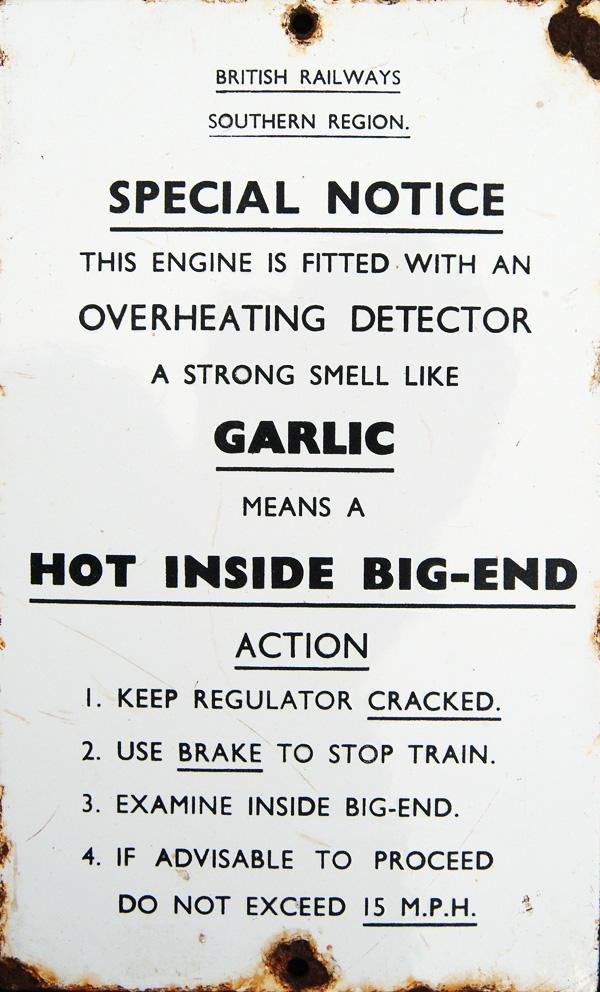 BR(S) Bulleid Locomotive Cab Enamel Sign 5