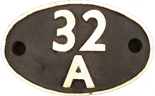 Shedplate 32a, Norwich Until May 1973. Face