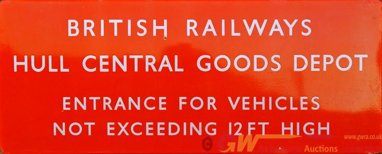 BR(NE) Enamel Sign, F/F Reads:- British Railways