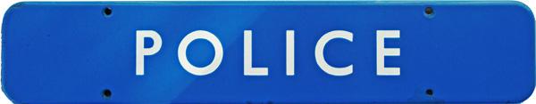 Doorplate, BR(Sc) POLICE, Enamel F/F Measuring 18