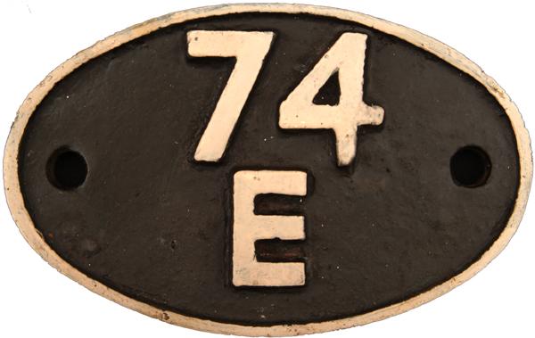 Shedplate 74e, St Leonards Until June 1958. Face
