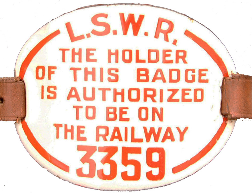 LSWR Enamel Armband Number 3359 Complete With