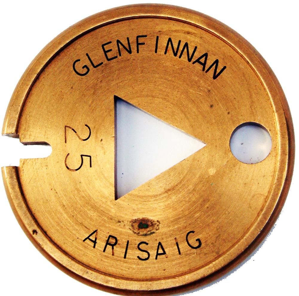 Brass Single Line Tablet GLENFINNAN To ARISAIG