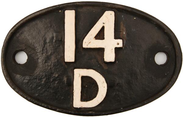 Shedplate, 14d Neasden From February 1958 Until