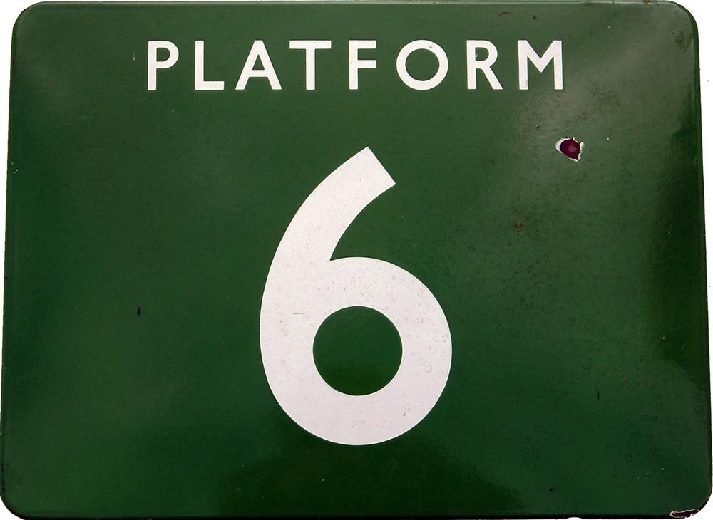 BR(S) Light Green F/F Sign 24X18 PLATFORM 6 In