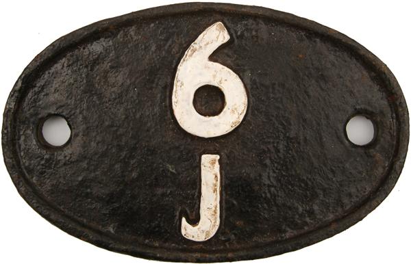 Shedplate 6j, Holyhead Until January 1967. Ex Loco