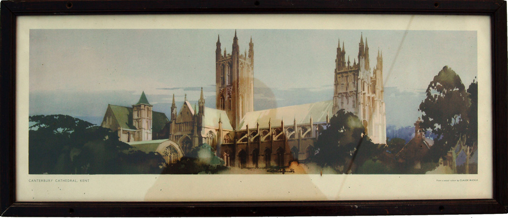 Carriage Print 'Canterbury Cathedral, Kent' From A