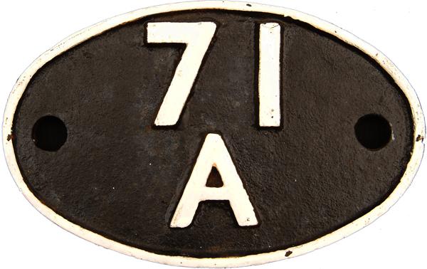 Shedplate, 71a Eastleigh Until September 1963. BRS
