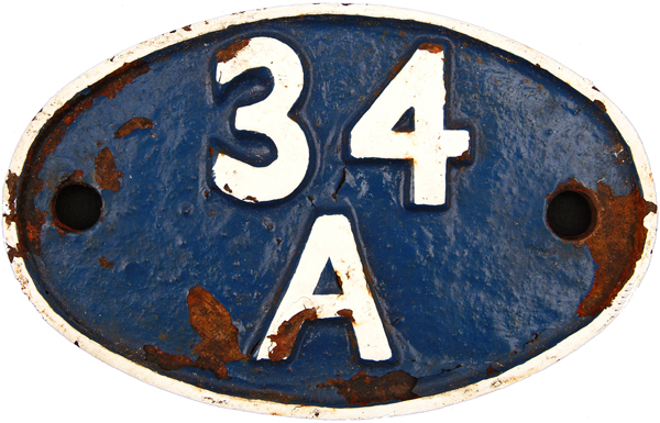 Shedplate 34a, Kings Cross Until June 1963.