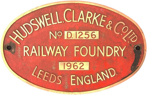 Worksplate, Hudswell Clark & Co Ltd Railway