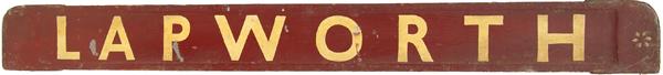 GWR/BR Wooden Carriage Board BIRMINGHAM -