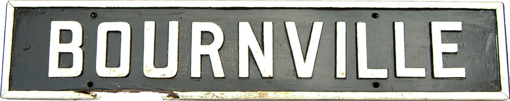 LMS C/I On Wood Signal Box Name Board BOURNVILLE.