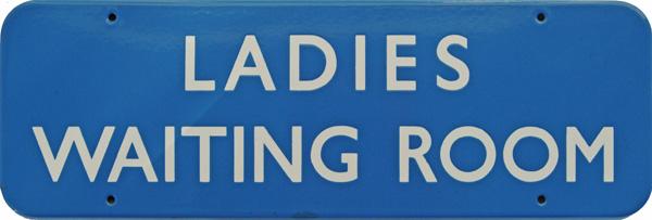 Doorplate, BR(Sc) LADIES WAITING ROOM, Enamel F/F
