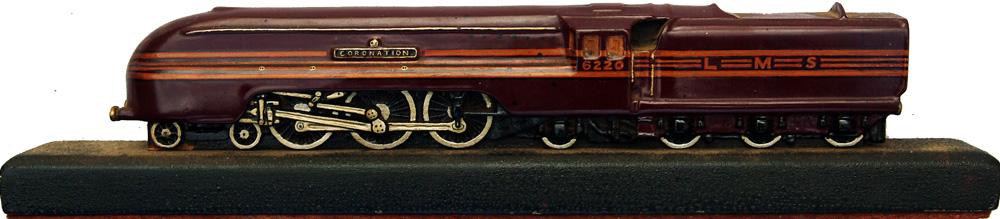 Large Cast Model Of LMS Locomotive 6220 CORONATION