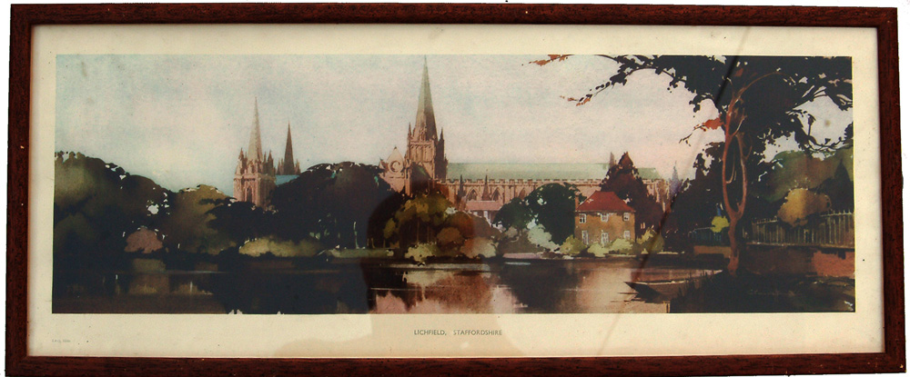Carriage Print 'Lichfield, Staffordshire' From A