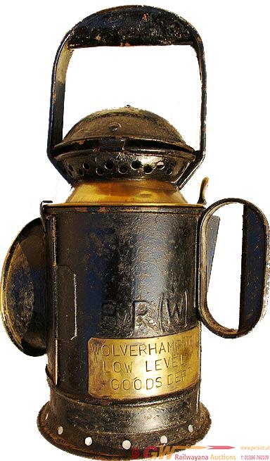 BR(W) 3 Aspect, Brass Collared Handlamp Unusually
