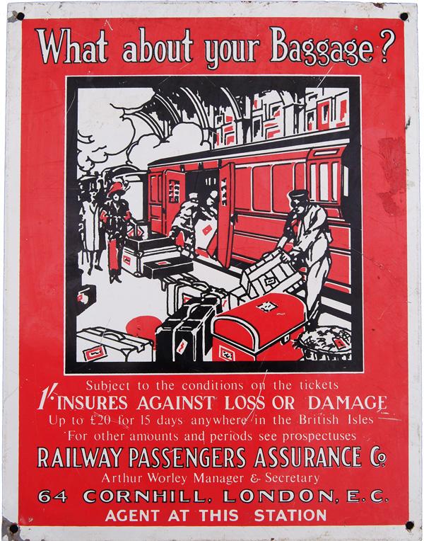 Railway Passenger Assurance Company Screen Printed