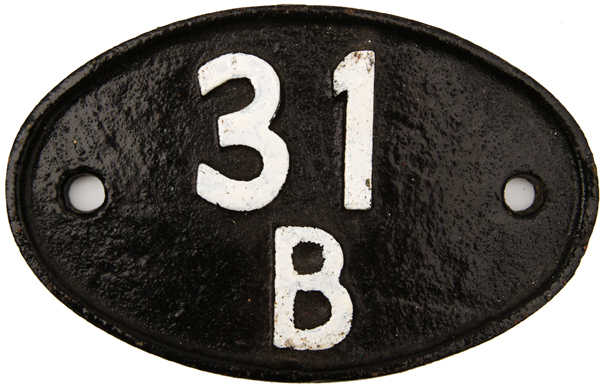 Shedplate 31b, March Until May 1973. Restored