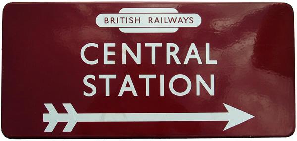 British Railways (M) Enamel Station Direction Sign