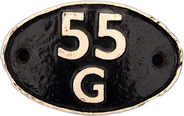 Shedplate 55g, Huddersfield From February 1957