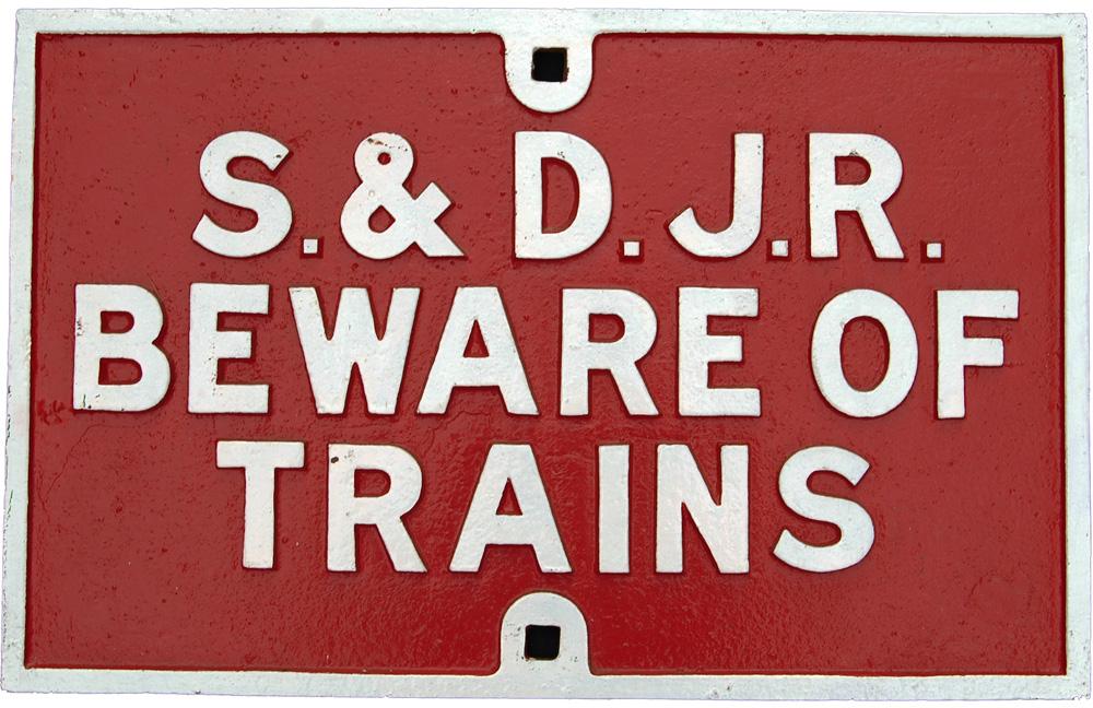 Somerset & Dorset Joint Railway C/I  Beware Of