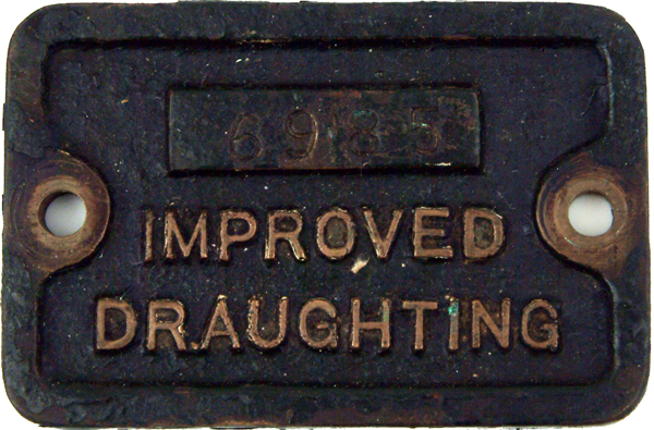 Brass Cab Plate Embossed Improved Draughting And