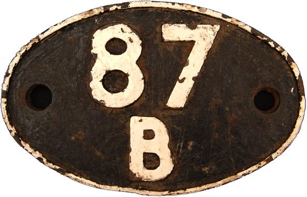 Shedplate 87b, Duffryn Yard Until March 1964.