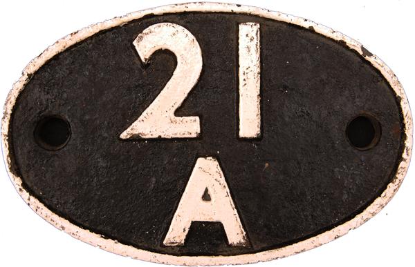 Shedplate 21a, Saltley Until September 1963. Clean