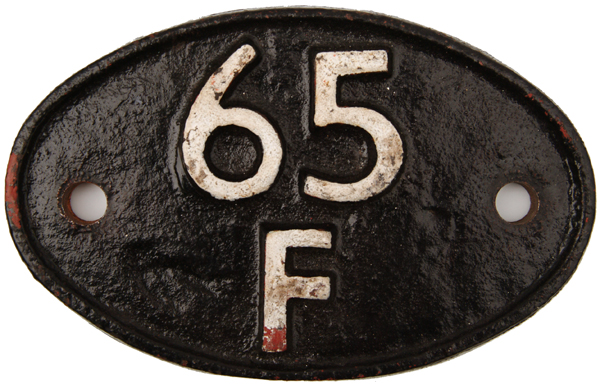 Shedplate 65f, Grangemouth Until May 1973. Face