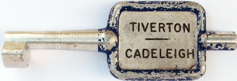 Alloy Key Token TIVERTON To CADELEIGH. Ex GWR Line