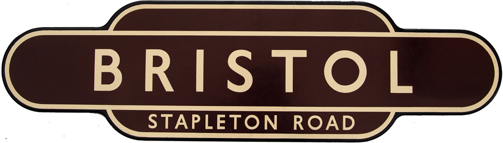 Totem, BR(W) BRISTOL STAPLETON ROAD, F/F. Ex GWR